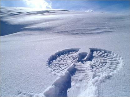 ангели в снега